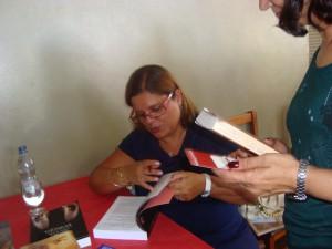 lançamento do livro a atriz